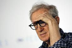 "Director Woody Allen gestures as he attends a news conference for the film ""Irrational Man"" out of competition at the 68th Cannes Film Festival in Cannes, southern France, May 15, 2015. REUTERS/Regis Duvignau/Files"