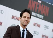"Cast member Paul Rudd poses during premiere of Marvel's ""Ant-Man"" in Hollywood, California June 29, 2015. REUTERS/Kevork Djansezian"