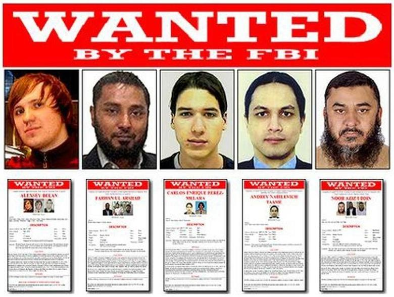 Five men who have been added to the FBI's Cyber Most Wanted list for their roles in domestic and international hacking and fraud crimes are seen in undated FBI handout photos released November 5, 2013. REUTERS/FBI/Handout via Reuters