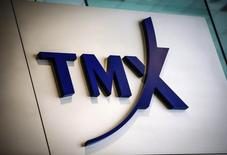 A TMX Group sign, the company that runs the Toronto Stock Exchange (TSX), is seen in Toronto, in this June 23, 2014 file photo.  REUTERS/Mark Blinch