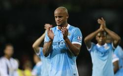 Vincent Kompant em jogo do Manchester City contra o West Bromwich Albion. 10/8/15.   Reuters/Jason Cairnduff