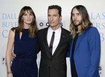 "Actors (L-R) Jennifer Garner, Matthew McConaughey, and Jared Leto attend the premiere of ""Dallas Buyers Club"" at the Academy of Motion Picture Arts and Sciences in Beverly Hills ,California, October 17, 2013.  REUTERS/Kevork Djansezian"