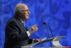 Presidente da Fifa, Joseph Blatter, durante evento na Rússia.  25/07/2015   REUTERS/Maxim Shemetov