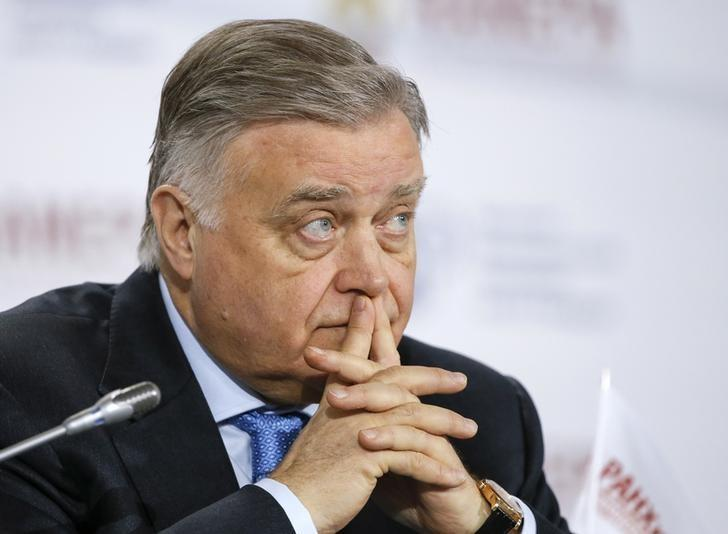 Vladimir Yakunin, President of Russian Railways, attends the Gaidar Forum 2015 ''Russia and the World: New Dimensions'' in Moscow, January 15, 2015. REUTERS/Maxim Shemetov