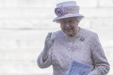 Rainha Elizabeth em Londres. 15/8/2015. REUTERS/Neil Hall