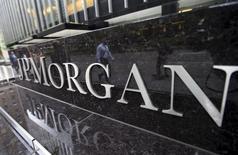 Las oficinas corporativas de JP Morgan Chase & Co. en Nueva York, mayo 20 2015. JPMorgan Chase & Co, Goldman Sachs Group Inc y Morgan Stanley están trabajando para crear una empresa que reúna y seleccione enormes cantidades de datos usados para determinar precios y costos de operaciones, publicó Wall Street Journal.  REUTERS/Mike Segar