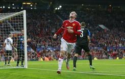 Atacante Wayne Rooney, do Manchester United, durante partida contra o Club Bruges pela Liga dos Campeões. 18/08/2015 REUTERS/Action Images/Jason Cairnduff