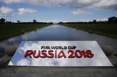 Logo da Copa do Mundo de 2018 na Rússia em São Petersburgo. 24/07/2015  REUTERS/Maxim Shemetov