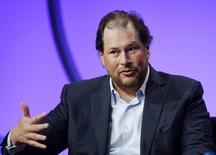 Presidente-executivo da Salesforce.com, Marc Benioff. 29/04/2014. REUTERS/Kevork Djansezian