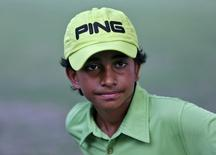 Indian golfer Shubham Jaglan attends a news conference at a golf club in New Delhi, India, August 4, 2015. REUTERS/Anindito Mukherjee