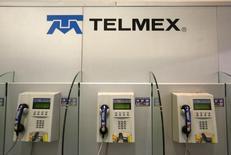El logo de Telmex en Ciudad de México, 17 de febrero de 2015. El gigante mexicano de las telecomunicaciones América Móvil dijo el martes que el regulador del sector en México inició diversos procedimientos para determinar posibles incumplimientos al título de concesión y otras disposiciones legales por parte de su subsidiaria Telmex. REUTERS/Edgard Garrido