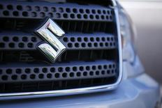 A view shows the logo of a Suzuki truck for sale at a Suzuki dealership in National City, California November 6, 2012. REUTERS/Mike Blake