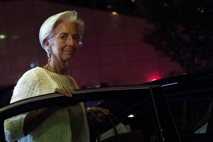 International Monetary Fund Managing Director Christine Lagarde leaves after a euro zone finance ministers' meeting on Greece, in Brussels, Belgium, July 12, 2015. REUTERS/Eric Vidal/Files