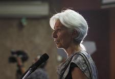 Diretora-gerente do Fundo Monetário Internacional, Christine Lagarde, durante evento em Jacarta.   01/09/2015   REUTERS/Nyimas Laula