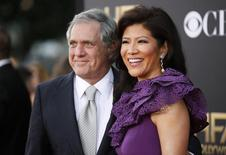 CBS chairman Les Moonves and his wife Julie Chen arrive at the Hollywood Film Awards in Hollywood, California November 14, 2014.  REUTERS/Danny Moloshok