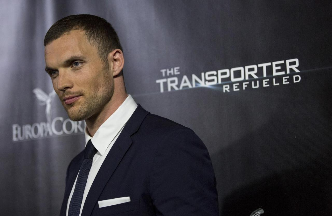 "Cast member Ed Skrein poses at the premiere of ""The Transporter Refueled"" at Playboy Mansion in Los Angeles, California, August 25, 2015.Mario Anzuoni"