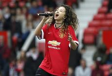 Football - Manchester United Legends v Bayern Munich All Stars - Old Trafford - 14/6/15 Singer Ella Eyre performs before the game Reuters / Andrew Yates Livepic