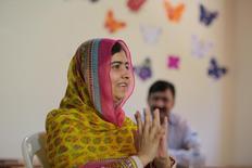 Malala Yousafzai, ganhadora do prêmio Nobel da Paz, durante evento no Líbano.  12/07/2015   REUTERS/Jamal Saidi
