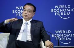 Primeiro-ministro da China, Li Keqiang, durante evento em Dalian.  09/09/2015. REUTERS/Jason Lee