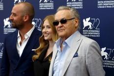 Cineasta Jerzy Skolimowski (à direita) no Festival de Cinema de Veneza, norte da Itália, nesta quarta-feira. 09/09/2015 REUTERS/Stefano Rellandini