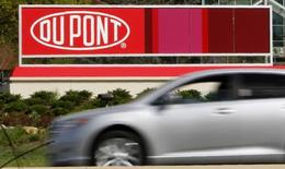 A view of the Dupont logo on a sign at the Dupont  Chestnut Run Plaza  facility near Wilmington, Delaware, in this April 17, 2012 file photo.  REUTERS/Tim Shaffer