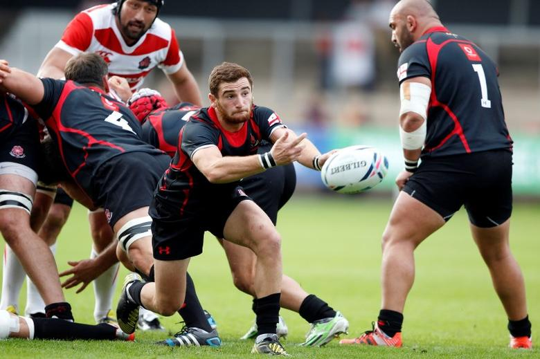 Rugby Union - Japan v Georgia - Kingsholm - 5/9/15Vasil Lobzhanidze of Georgia (C) in actionAction Images via Reuters / Ian SmithLivepic
