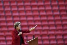 Presidente Dilma Rousseff durante evento em Brasília.  12/08/2015   REUTERS/Ueslei Marcelino