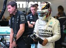 Mercedes' Lewis Hamilton during practice.  Action Images / Hoch Zwei.