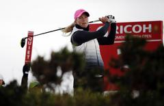Golf - RICOH Women's British Open 2015 - Trump Turnberry Resort, Scotland - 1/8/15 Norway?s Suzann Pettersen at the 3rd tee during the third round Action Images via Reuters / Russell Cheyne Livepic