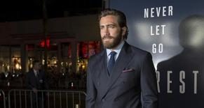 "Ator Jake Gyllenhaal posa na pré-estreia de ""Everest"" em Hollywood. 09/09/2015 REUTERS/Mario Anzuoni"