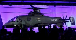 The new Sikorsky Aircraft S-97 RAIDER helicopter, is seen during its unveiling ceremony at Sikorsky Aircraft in Jupiter, Florida, in this file photo taken October 2, 2014. REUTERS/Andrew Innerarity/Files