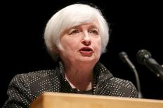 U.S. Federal Reserve Chair Janet Yellen speaks at the University of Massachusetts in Amherst, Massachusetts September 24, 2015.    REUTERS/Mary Schwalm