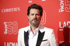 Actor Jim Carrey poses at LACMA's 50th anniversary gala in Los Angeles, California, April 18, 2015. REUTERS/Danny Moloshok