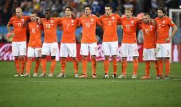 Seleção holandesa durante partida contra a Argentina na Copa do Mundo de 2014.  09/07/2014   REUTERS/Dylan Martinez