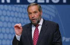 New Democratic Party (NDP) leader Thomas Mulcair speaks at the Munk leaders' debate on Canada's foreign policy in Toronto, Canada September 28, 2015.  REUTERS/Mark Blinch