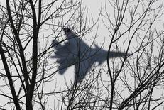 """Истребитель Су-30 из авиационной группы """"Соколы России"""" во время авиашоу в Красноярске. 25 октября 2014 года. Генеральный секретарь НАТО не доверяет заявлению России о том, что нарушение воздушных границ Турции на выходных было ошибкой, поскольку подобных нарушений было два и они длились дольше нескольких секунд. REUTERS/Ilya Naymushin"""