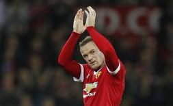 Atacante Wayne Rooney durante partida do Manchester United, na Inglaterra.  23/09/2015  Action Images via Reuters / Ed Sykes Livepic