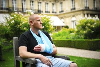 France train attack hero stabbed
