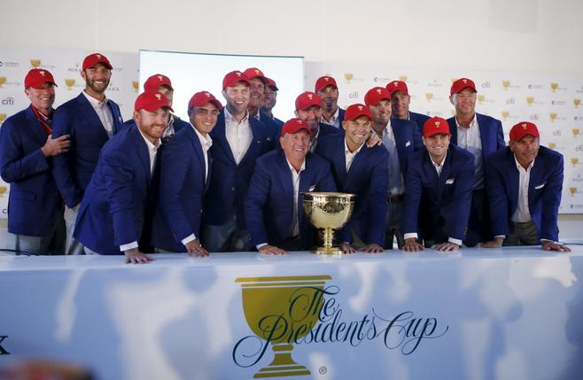 The US Presidents Cup team