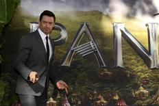 "Actor Hugh Jackman arrives for the world premiere of ""Pan"" at Leicester Square in London, Britain September 20, 2015. REUTERS/Luke MacGregor"