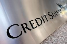 A Credit Suisse sign is seen on the exterior of their Americas headquarters in the Manhattan borough of New York City, September 1, 2015. REUTERS/Mike Segar