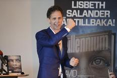 Autor sueco David Lagercrantz durante evento em Estocolmo.  26/8/2015.   REUTERS/Fredrik Sandberg/TT News Agency