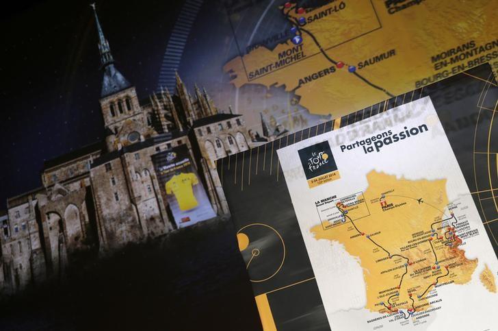 CICLISMO-Ruta de Tour de Francia 2016 es más balanceada, pero sigue favoreciendo a escaladores