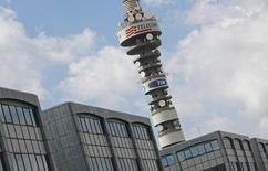 Vivendi a annoncé vendredi détenir 20,03% de Telecom Italia, réaffirmant sa volonté d'être un actionnaire à long terme de l'opérateur télécoms italien. /Photo d'archives/REUTERS/Max Rossi
