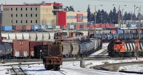 The Canadian National (CN) railyards as seen in Edmonton February 22, 2015.  REUTERS/Dan Riedlhuber