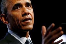 Presidente dos Estados Unidos, Barack Obama, durante evento em Chicago.  27/10/2015   REUTERS/Jonathan Ernst