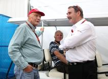 Formula One - F1 - Mexican Grand Prix 2015 - Autodromo Hermanos Rodriguez, Mexico City - 29/10/15 Former drivers Niki Lauda and Nigel Mansell Mandatory Credit: Action Images / Hoch Zwei Livepic
