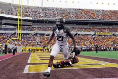 Missouri Tigers wide receiver Bud Sasser runs into the end zone after a 25-yard touchdown catch against the Minnesota Golden Gophers in the first half of the 2015 Citrus Bowl in Orlando, Florida, January 1, 2015. Mandatory Credit: David Manning-USA TODAY Sports
