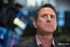 Target Corp. CEO, Brian Cornell speaks during an interview on the floor of the New York Stock Exchange November 28, 2014. REUTERS/Brendan McDermid