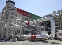 Газоперерабатывающий завод на месторождении Галкыныш в Туркмении 4 сентября 2013 года. Падение мировых цен на природный газ наряду с другими внешними шоками замедлит рост туркменского ВВП в этом и следующем годах, заявил МВФ, призвав центральноазиатскую страну диверсифицировать экономику. REUTERS/Marat Gurt